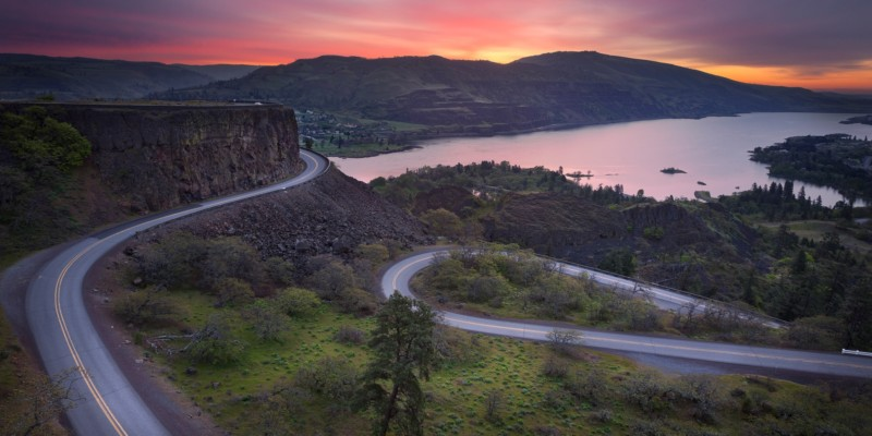Columbia Gorge Vista House To John Day River