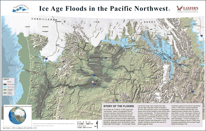 Scablands Washington Map.History Of The Ice Age Floods Institute Ice Age Floods Institute